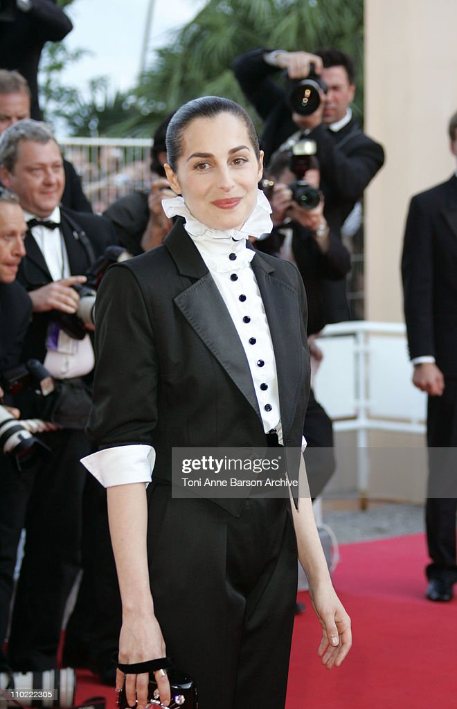 <a gi-track='captionPersonalityLinkClicked' href=/galleries/search?phrase=Amira+Casar&family=editorial&specificpeople=239076 ng-click='$event.stopPropagation()'>Amira Casar</a> during 2005 Cannes Film Festival -'Peindre Ou Faire L'Amour' Premiere at Le Palais de Festival in Cannes, France.