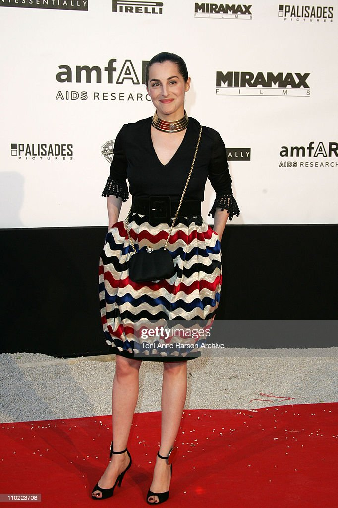 <a gi-track='captionPersonalityLinkClicked' href=/galleries/search?phrase=Amira+Casar&family=editorial&specificpeople=239076 ng-click='$event.stopPropagation()'>Amira Casar</a> during amfAR 'Cinema Against AIDS' Gala Presented by Miramax Films, Palisades Pictures and Quintessentially - Arrivals at Le Moulins de Mougins in Mougins, France.