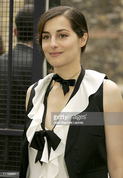Amira Casar during Paris Haute Couture Fashion Week Fall/Winter 2005 Chanel Arrivals in Paris France