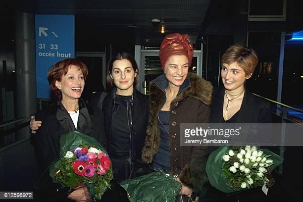 X Amira Casar Elli Medeiros and Julie Gayet at the UGC Cine Cite Bercy cinema