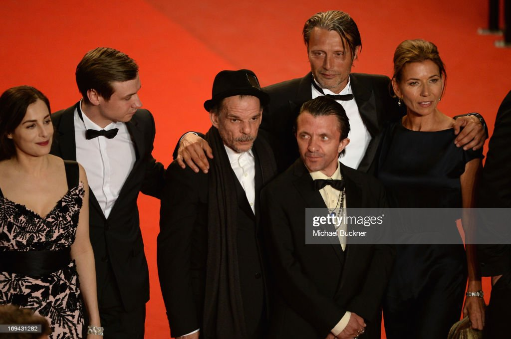 Amira Casar, guest, Denis Lavant, Mads Mikkelsen and Hanne Jacobsen attend the 'Michael Kohlhaas' premiere during The 66th Annual Cannes Film Festival at the Palais des Festival on May 24, 2013 in Cannes, France.