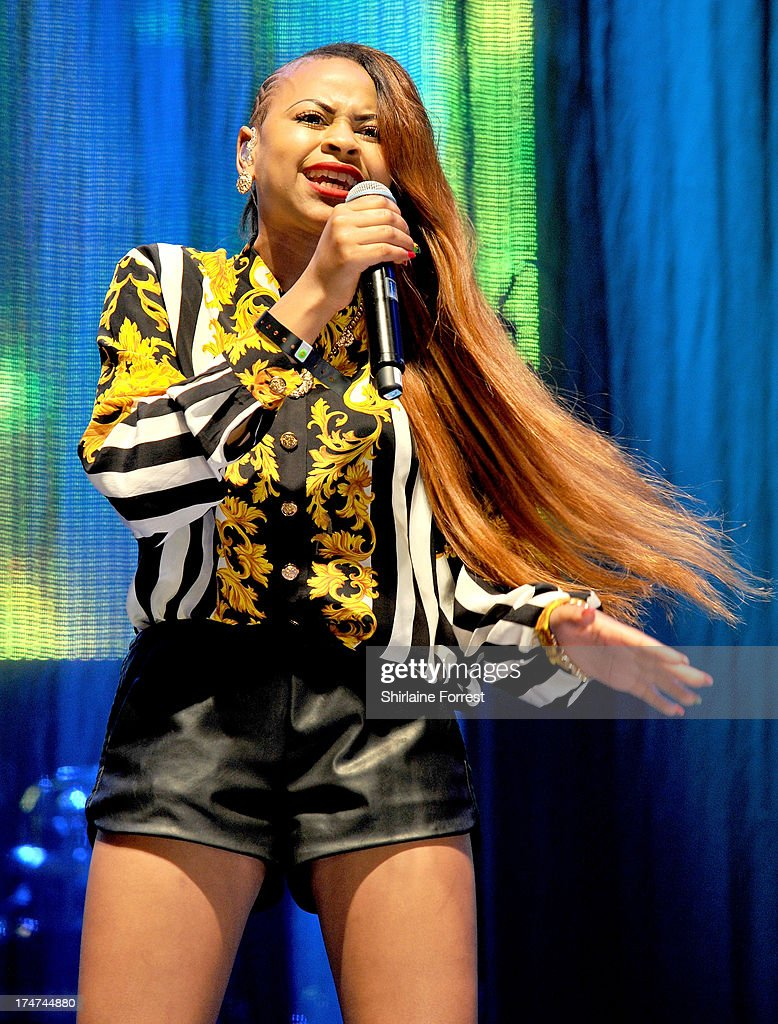 Amira McCarthy of Neon Jungle performs at Key 103 Live at Manchester Arena on July 28, 2013 in Manchester, England.