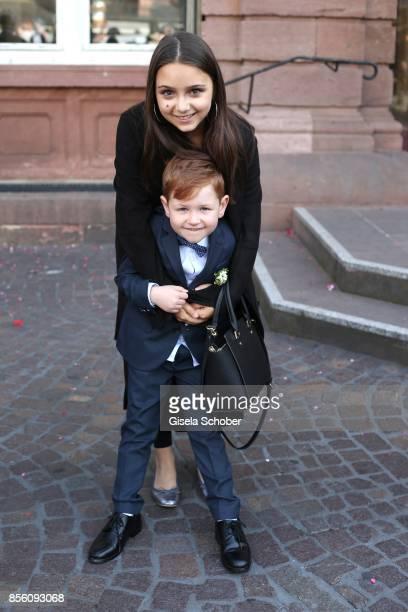 Amira 'Pauletta' Pollmann daughter of Erdogan Atalay and Maris Atalay son of Erdogan and Katja during the civil wedding of Erdogan Atalay and Katja...