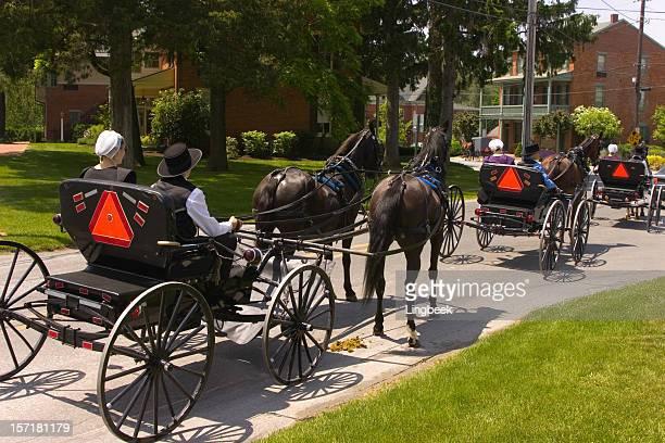 Amish dans courting poussettes
