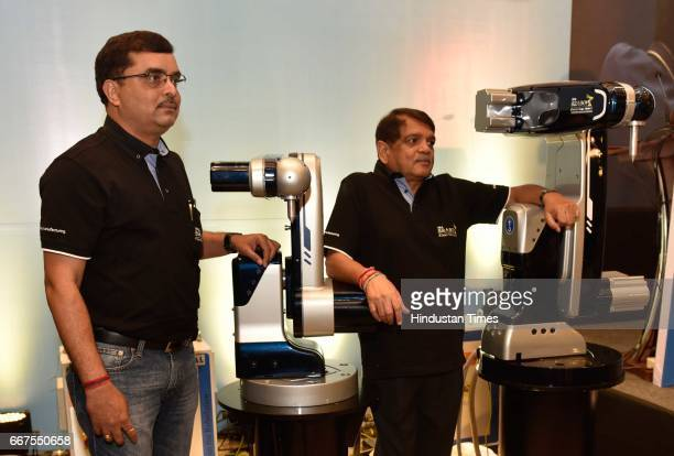 Amit Bhingurde COO TAL Manufacturing Solutions LTD and RS Thakur NonExecutive Director Chairman TAL Manufacturing Solutions LTD during the launch of...