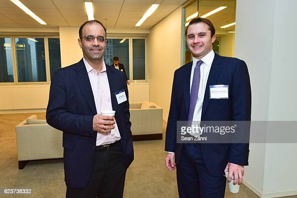 Amit Khurana and William N Hubbard IV attend The Commercial Observer Financing Commercial Real Estate at 666 Fifth Avenue on November 15 2016 in New...