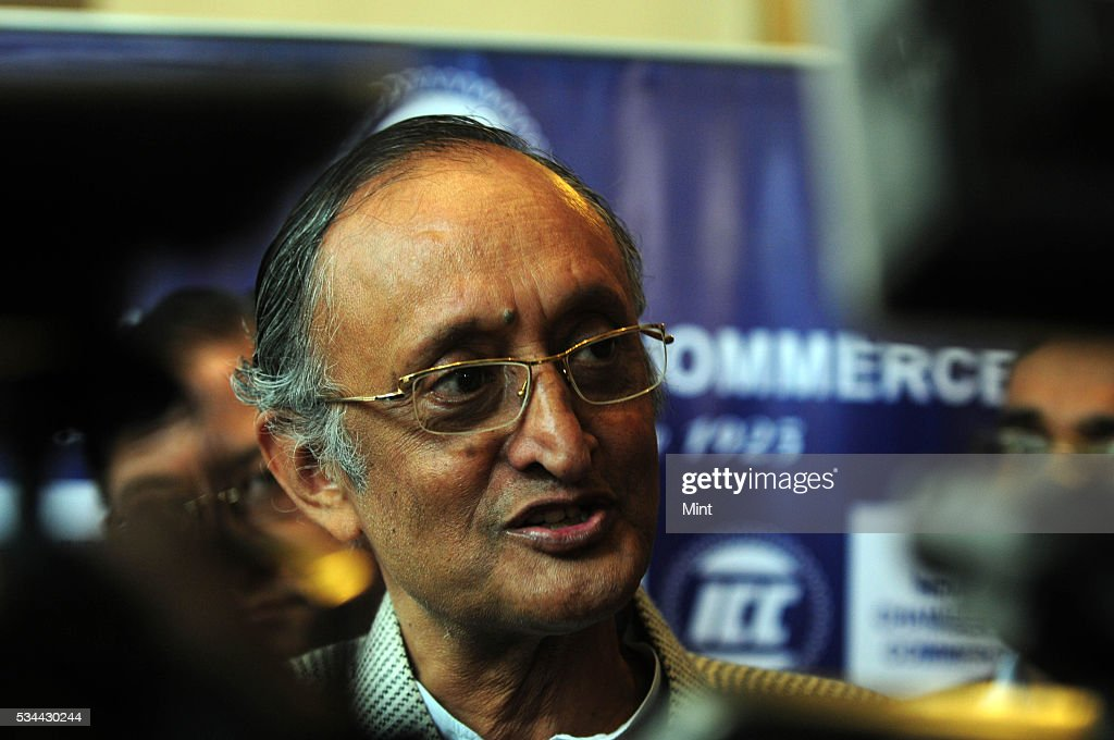 Amit Mitra, Finance Minister of West Bengal, speaking in ICC Banking Summit at Hyatt on December 17, 2015 in Kolkata, India.