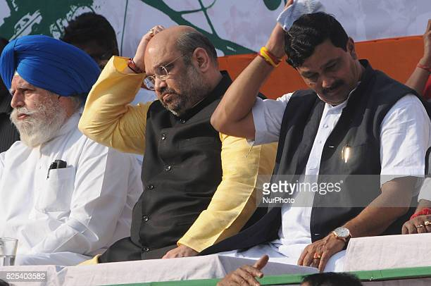 Amit Shah All india President of BJP along with Rahul Sinha State BJP President Mr Shah Taking potshots at West Bengal Chief Minister Mamata Banerjee...