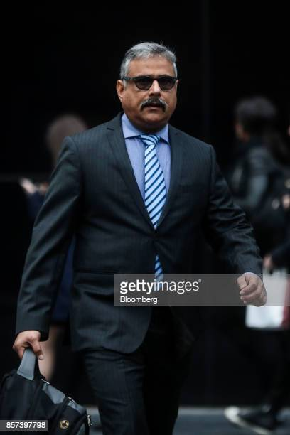 Amit Soni a senior accountant at Tesco Plc arrives to appear as a witness at Southwark Crown Court in London UK on Wednesday Oct 4 2017 Soni a...