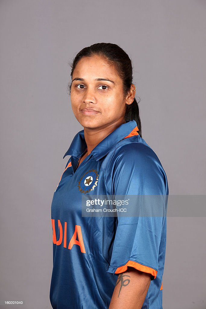 Amita Sharma of India poses at a portrait session ahead of the ICC Womens World Cup 2013 at the Taj Mahal Palace Hotel on January 27, 2013 in Mumbai, India.