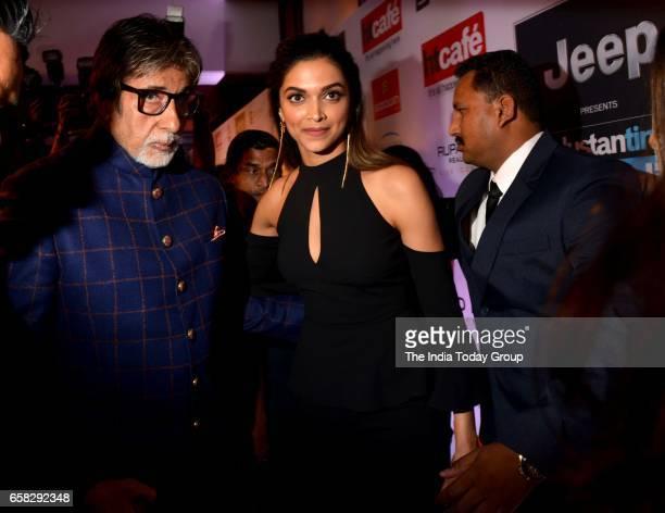 Amitabh Bachchan and Deepika Padukone at HT Most Stylish Awards 2017 in Mumbai