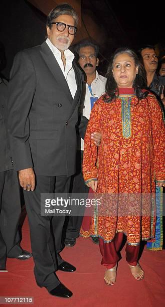 Amitabh Bachchan and Jaya Bachchan at Mumbai Police show Umang 2011 at Andheri Sports Complex Mumbai on December 19 2010