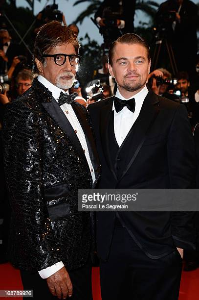 Amitabh Bachchan and Leonardo DiCaprio attends the Opening Ceremony and 'The Great Gatsby' Premiere during the 66th Annual Cannes Film Festival at...