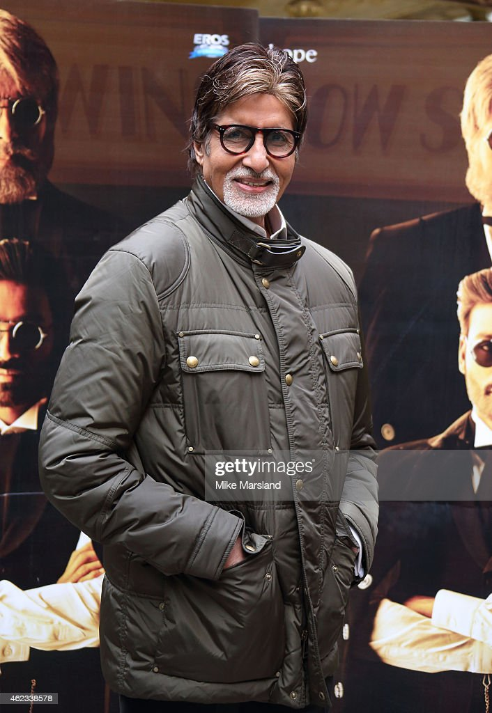 <a gi-track='captionPersonalityLinkClicked' href=/galleries/search?phrase=Amitabh+Bachchan&family=editorial&specificpeople=220394 ng-click='$event.stopPropagation()'>Amitabh Bachchan</a> attends a photocall for 'Shamitabh' at St James Court Hotel on January 27, 2015 in London, England.