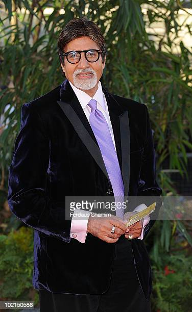 Amitabh Bachchan attends the World Premiere of 'Raavan' at BFI Southbank on June 16 2010 in London England
