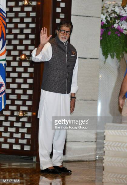 Amitabh Bachchan during the party organised to celebrate Mumbai Indians victory in the Indian Premier League 2017 in Mumbai