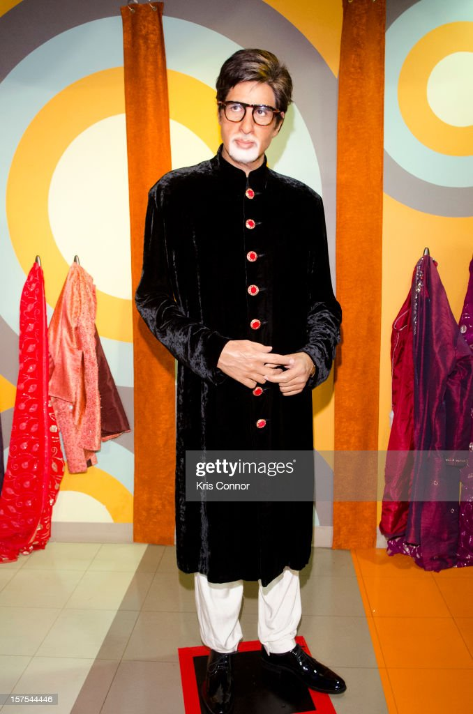 Amitabh Bachchan wax figure is unveiled during the launch of the traveling Bollywood Exhibit at Madame Tussauds on December 4, 2012 in Washington, DC.