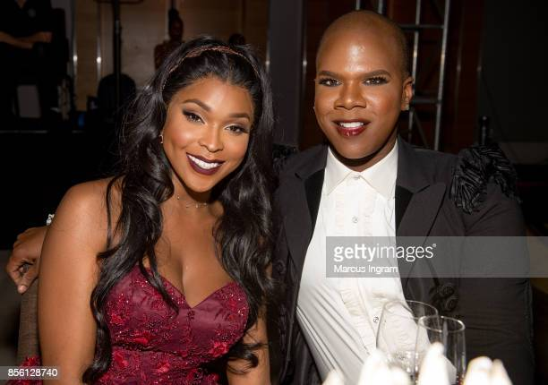 Amiyah Scott and Miss Lawrence attend The 6th Annual Gentlemen's Ball at Atlanta Marriott Marquis on September 30 2017 in Atlanta Georgia