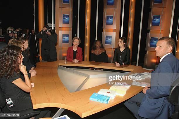 Amélie Nothomb Fatou Diome Isabelle Hausser Eliette Abecassis Alix de Saint André et Karine Tuil are part of the guests of TF1's literary TV show...