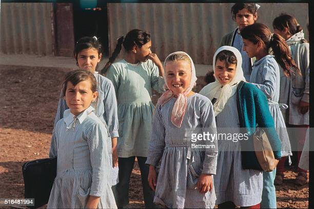 Schoolage children shown in the refugee camp provided by the Jordanian government Inhabitants of the Baqa's camp include former citizens of the city...
