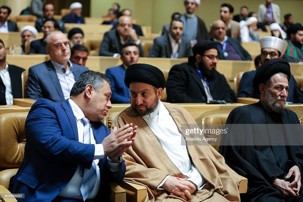 Ammar alHakim head of the Islamic Supreme Council of Iraq attends the 29th edition of the International Islamic Unity Conference is held in Tehran...