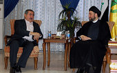 Ammar alHakim leader of Islamic Supreme Council of Iraq meets with the head of the negotiating team of the Kurdistan Alliance and Iraqi Foreign...