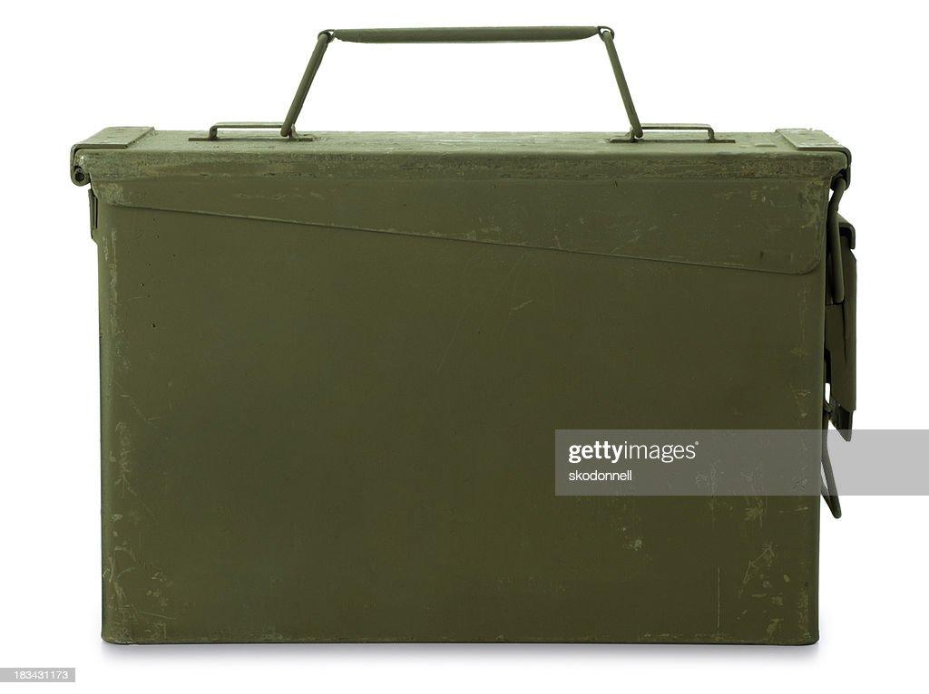 Ammunition Box Isolated on White