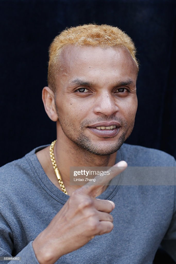 Amnat Ruenroeng of Thailand attends the Great Wall Weigh-in of IBF World Boxing Championship Bout at Mutianyu on May 24, 2016 in Beijing, China.