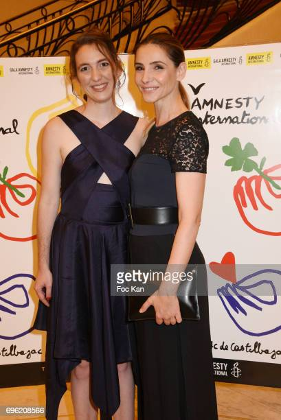Amnesty international President Camille Blanc and Clotilde Courau attend Amnesty International 'Musique Contre L'Oubli' Gala Ceremony at Theatre des...