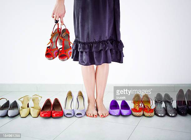 Unter viele Schuh