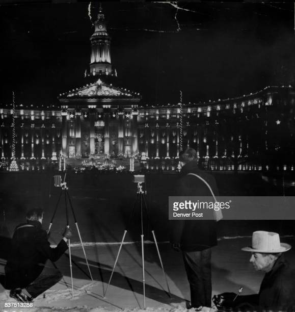 Among the handful of hardy amateur photographers who braved Denver's nearzero temperatures Monday night to take pictures of the civic center lights...