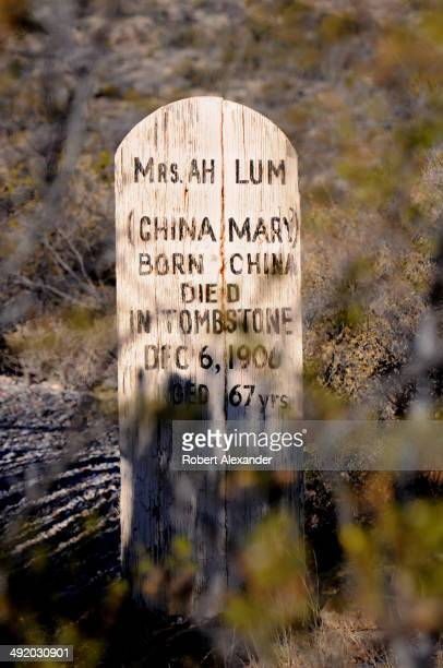 Among the hundreds of graves at the historic Boothill Graveyard in Tombstone Arizona is the grave of Mrs Ah Lum an influential and respected Chinese...