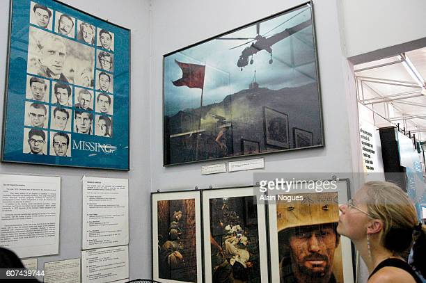 Among the moving and sometimes harrowing photographs exhibited at the War Remnants Museum a poster regroups the faces of war reporters of various...