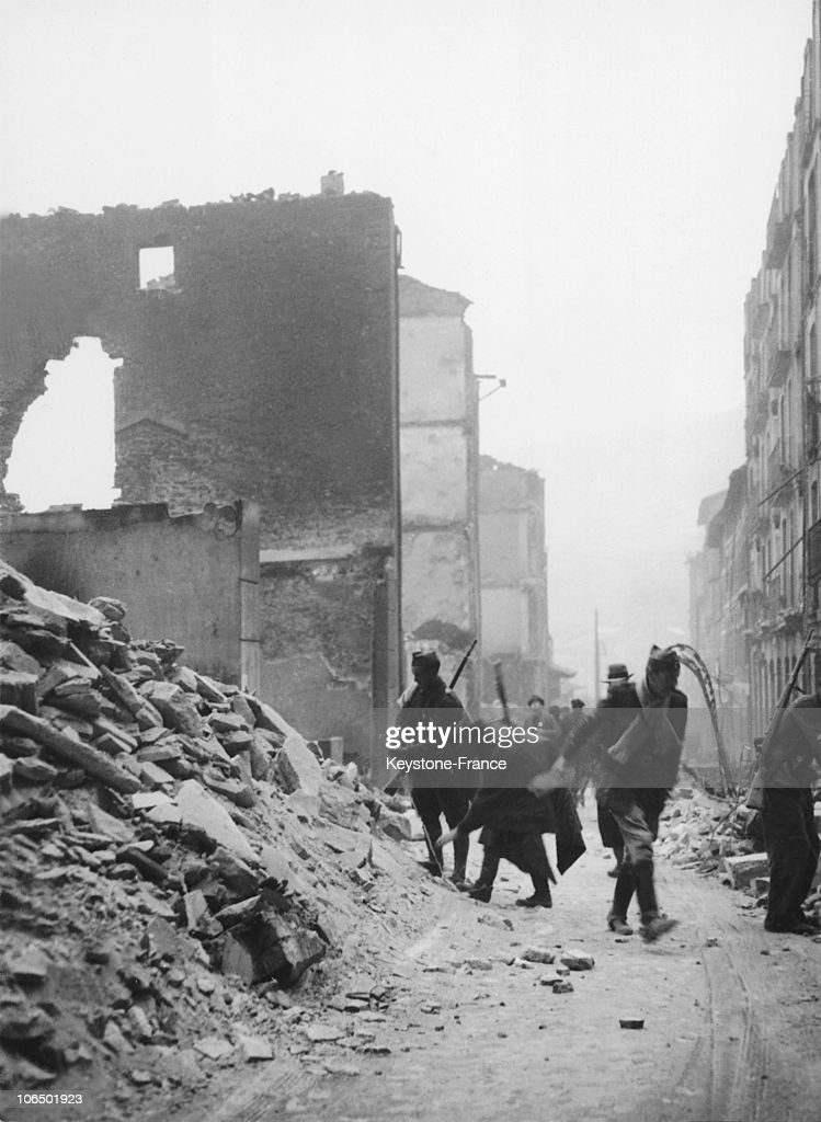 Among The Ruins Of Guernica Y Luno, Spain, Soldiers Searched For Victims Of The Aerial Military Operation Led By The Nationalists On The Basque Capital On May 1, 1937.