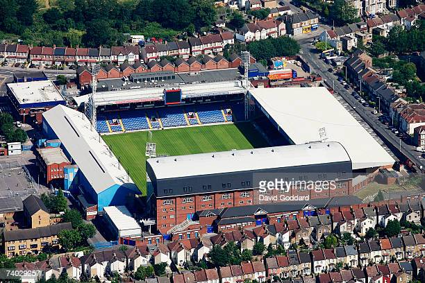 Among the terraced housing of Croydon is the Home of Crystal Palace Football Club Selhurst Park in this aerial photo taken on 1st July 2006