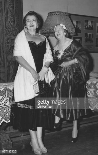 Among those who attended a recent performance of 'The Happy Time' at the Civic theater were Mrs William F Hayden and Mrs Earle Krumrine Credit Denver...