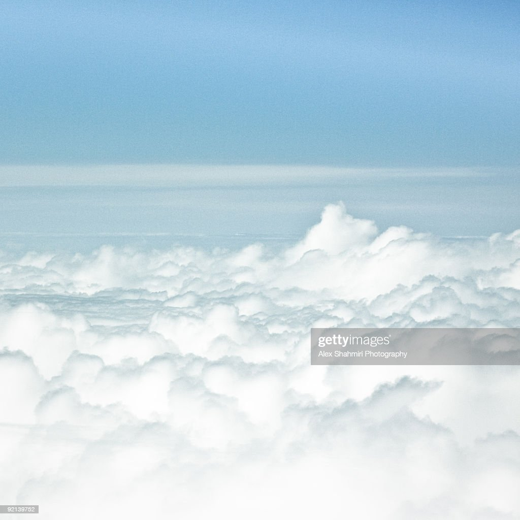 Amongst Giants in Clouds : Stock Photo
