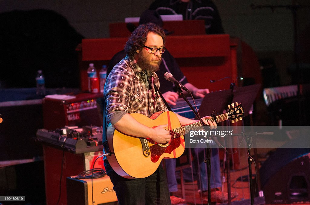 Amos Lee performs during the Tribute to Cowboy Jack Clement at War Memorial Auditorium on January 30, 2013 in Nashville, Tennessee.