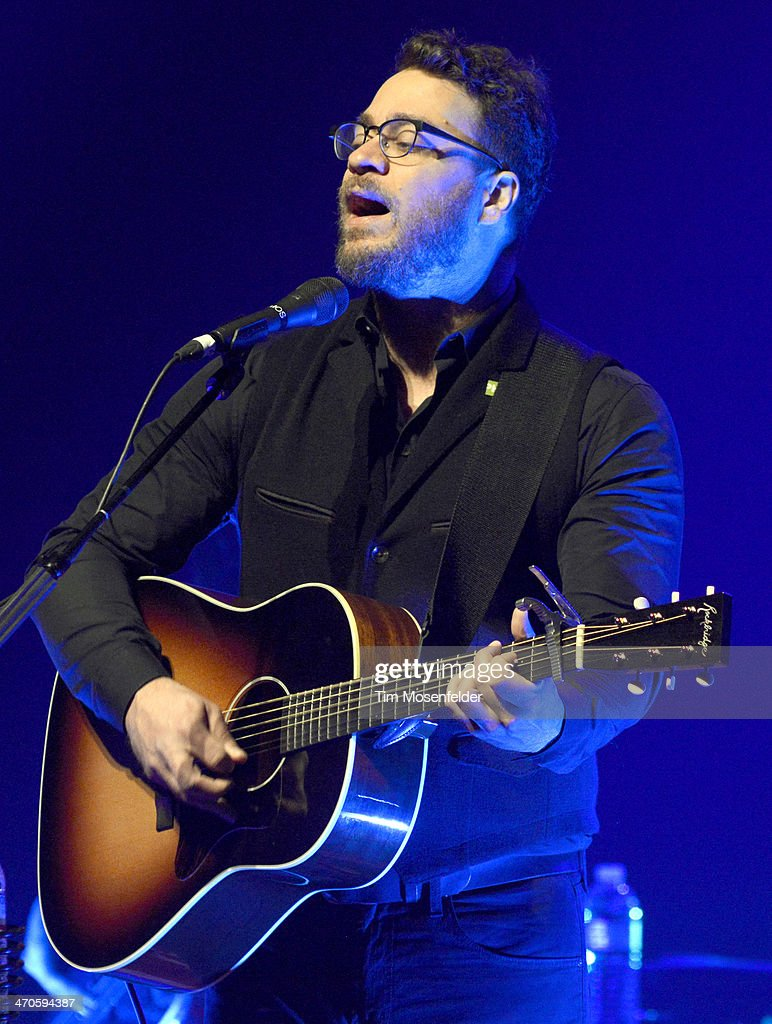 Amos Lee performs in support of his 'Mountains Of Sorrow Rivers Of Song' release at The Fox Theatre on February 19 2014 in Oakland California
