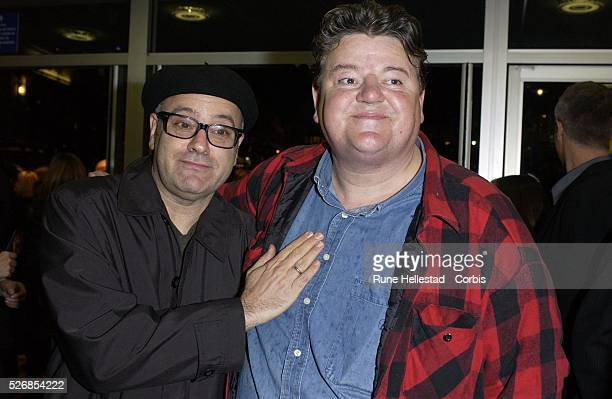 Amos Poe and Robbie Coltrane attend the premiere of 'Girl With A Pearl Earring' at the Odeon WestEnd in conjunction with the London Film Festival