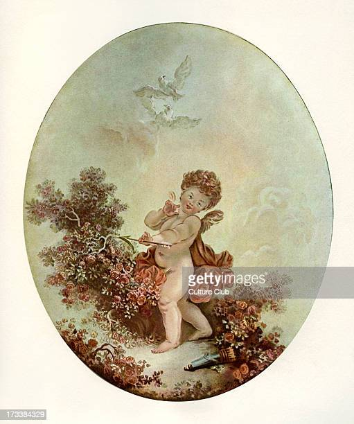 L'Amour after engraving by Francois Janinet after Honoré Fragonard