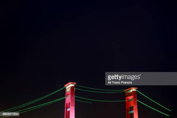 Ampera Bridge, Landmark of Palembang city, South Sumatra