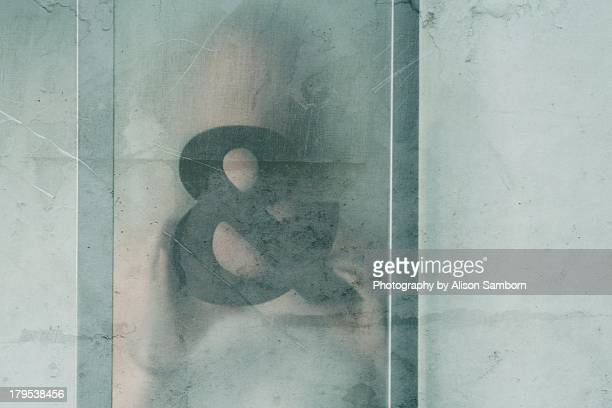 Ampersand Symbol Anonymous Behind Glass