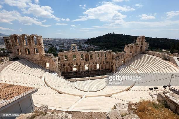 Amphithéâtre de l'Acropole, à Athènes.