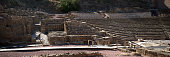 Ruins of a Roman Amphitheater in Malaga