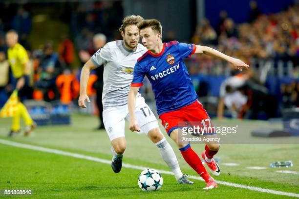 UEFA ampiyonlar Ligi maçnda CSKA Moskova ile Manchester United takmlar Rusya'nn bakenti Moskova'da bulunan CSKA Moskova Stadyumu'nda kar karya geldi...