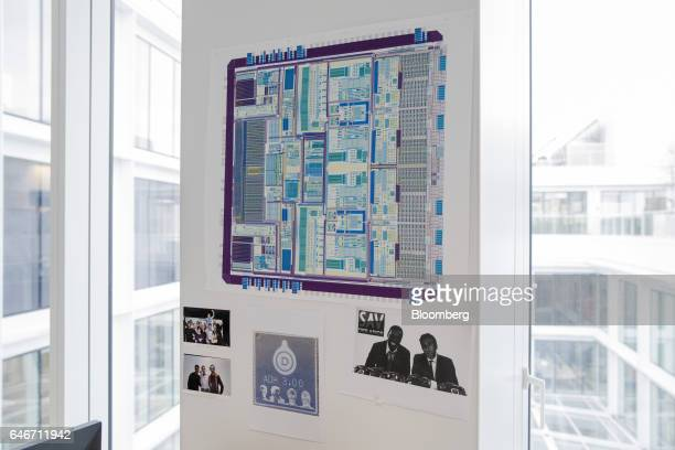Amplification device schematics hang from a wall in the laboratory at the Devialet SAS headquarters in Paris France on Friday Jan 27 2017 In November...