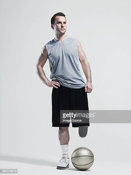 Amputee basketball player
