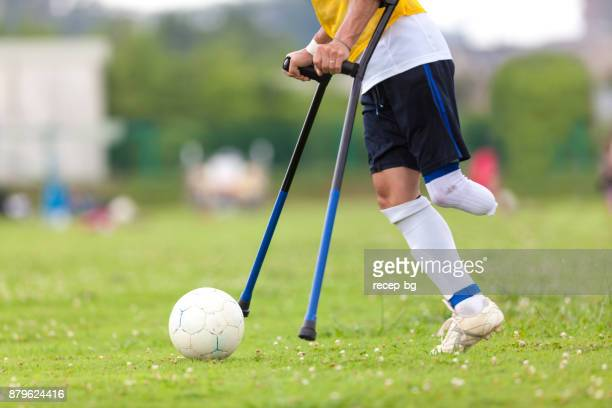 ふぐサッカー ボールを蹴る