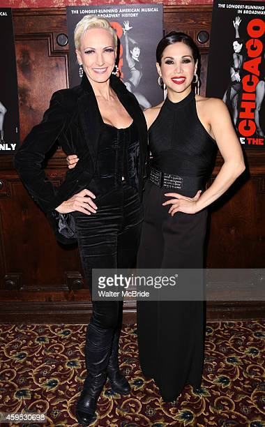 AmraFaye Wright and Bianca Marroquin attend the celebration party for 'Chicago' as it becomes the 2nd longest show in Broadway History at the...